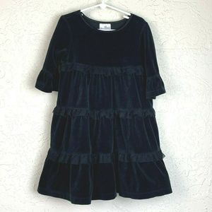 Hanna Andersson Dress Girls 110 5 Black Velvet